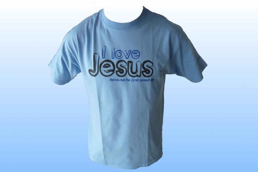 tshirt i love jesus gars